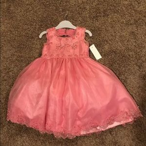 Tiptop Dresses - 24 Months Pink Pageant Flower-girl Dress NWT
